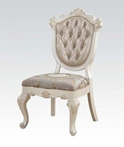 Acme Furniture 63542 Chantelle Side Chair (Set-2), Rose Gold Pu & Pearl White - $830.19