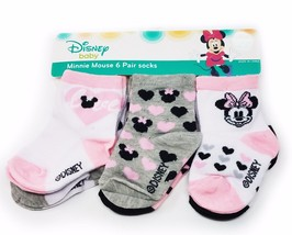 Disney Baby Minnie Mouse 6 Pair Girl's Sock (0-6 month) - $11.00