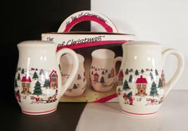 Jamestown THE JOY OF CHRISTMAS Salt and Pepper Shaker Set EUC in Box - $19.75