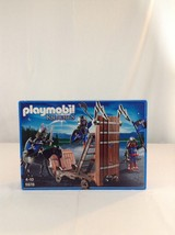 New Playmobil Knights 5978 Blue Knights With Battering Ram 49 Piece Buil... - $65.44