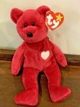 Collectible 1998 Rare TY Original Beanie Baby Valentina Bear MANY ERRORS... - $325.00