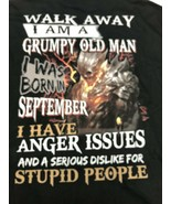 Grumpy Old Man Born In September  Graphic T Shirt Mens 2XL - $12.34