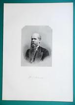 WILLIAM MOORE Kentucky Born Reverend - 1881 Superb Portrait Print - $19.80
