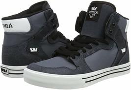 Supra Vaider S28271 Carbone / Bianco-Bianco Skate Scarpe Hi-Top Skate Sneaker