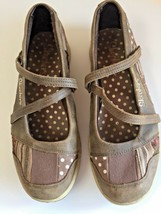 Skechers Mary Janes Brown Leather Canvas Multicolor Womens Size 6  - $19.53