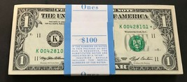 1993 Star Note $1 One Dollar Bill Crisp Consecutive UNC from BEP Dallas - $7.99