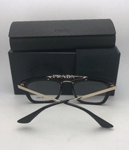 New PRADA Eyeglasses VPR 10R 1AB-1O1 55-17 140 Black & Gold Frame w/Spring Hinge - $249.95
