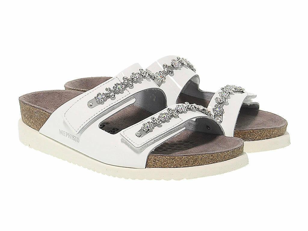 Sandalo basso MEPHISTO HERMINE in vernice bianco - Scarpe Donna