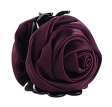 A Beautiful Rose Flower Hair Clips Headwear Ponytail Clip, Purple