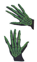 Gloves Skeleton Ovrsze Grn  Costume Accessories - $13.62