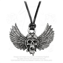 Alchemy Gothic PP513  Airbourne: Wings Necklace Pendant - $20.76