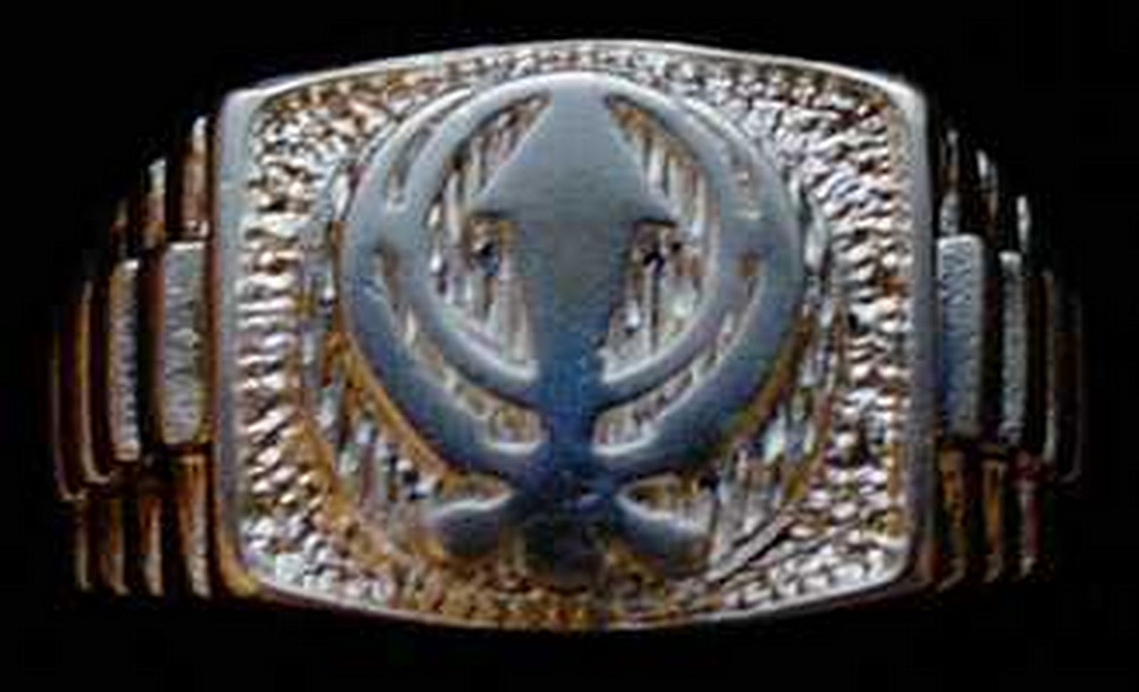 0444 BEAUTIFUL Sterling Silver RING Sikh Khanda Jewelry