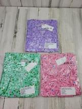 3 Medium Sleepwear Pink Green Lilac Floral Lightweight Duster Robe House... - $24.24