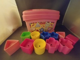 Fisher Price Pink Shape Sorter With 10 Shapes Coordination Toddler Toy 2006  - $9.75