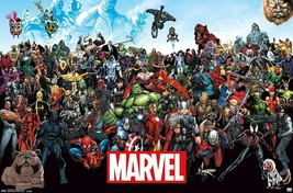 MARVEL COMICS The Line Up Characters POSTER NEW 22.375 X34 Avengers  - $14.85