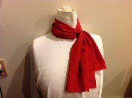 Vera 100 Silk Tout Soie Bright Red Silk Scarf image 3