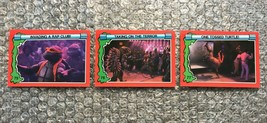 1991 Topps Teenage Mutant Ninja Turtles TMNT II Movie Cards Lot: #75, #76 & #77 - $3.92