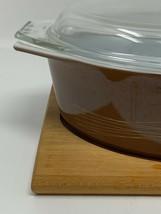 VTG Pyrex 045 Brown Autumn Harvest Wheat 2 1/2 Qt Casserole LID & TRIVET... - $75.95