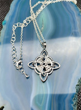 Chinese Knot Exquisite Women Pendant Silver 925 Necklace - $30.57