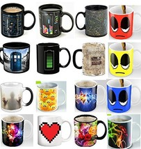 4 Ceramic Mugs - Color Changing Heat Sensitive Ceramic Cups - Best Offic... - $13.43