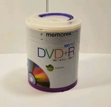 Brand New Sealed Memorex DVD+R 16X 4.7 GB 120 Min 100 Pack Spindle DVD - $19.95