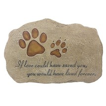 JSYS Pet Memorial Stone Marker for Dog or Cat for Outdoor Garden, Backyard, or L