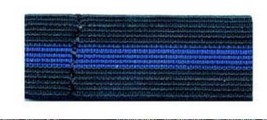 Mourning Band Police Law Enforcement Blue Stripe Black Elastic Funeral New - $1.95