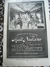 ANHEUSER-Busch's MALT-NUTRINE 1907 ad advertisement MAGAZINE suitable fr... - $12.85