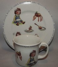 Little Miss Muffet Queen's Fine China Porcelain Childs Mug & Plate Made ... - $12.82