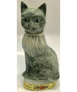 Jim Beam GRAY TABBY CAT Whiskey Decanter ~ Vintage 1967 - Cork Intact - $12.91