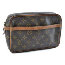 LOUIS VUITTON Monogram Compiegne 23 Clutch Bag M51847 LV Auth 8783 Sticky - $128.40