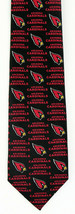 Arizona Cardinals Mens Neck Tie NFL Football Team Sports Logo Fan Black ... - $31.68