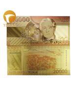 10pcs Colorful Chile 24K Gold Color Banknotes 20.000 Pesos Gold Banknote - €9,64 EUR