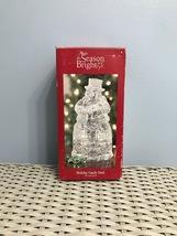 Make the Season Bright Snowman Holiday Candy Dish 24% Lead Crystal IOB - $28.00