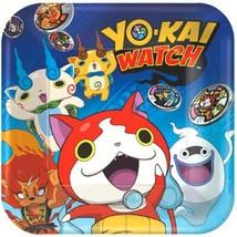 "Yo-Kai Watch 8 9"" Dinner Lunch Plates Birthday Party Yokai - $5.41"