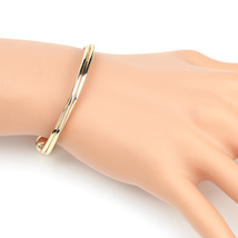 UE- Stylish Gold Tone Multi Strand Intertwined Designer Bangle Bracelet - $14.99