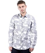 Men's camouflage button down long sleeve shirt  - $14.99