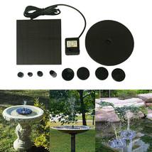 Floating Solar Powered Pond Garden Water Pump Fountain Kit Bird Bath Fis... - $34.40 CAD