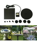 Floating Solar Powered Pond Garden Water Pump Fountain Kit Bird Bath Fis... - £19.62 GBP