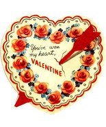 Arrow Through The Heart Vintage Valentine Image - £3.47 GBP