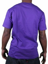 Famous Stars & Straps Mens Purple White Motion BOH Badge of Honor T-Shirt NWT image 2