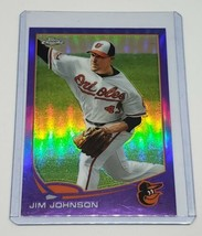 MLB JIM JOHNSON BALTIMORE ORIOLES 2013 TOPPS CHROME PURPLE REFRACTOR #36... - $1.61