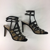 Vince Camuto Pascala Women Black Cage Ankle Strap High Heel Dress Sandal... - $37.61
