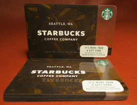 Lot of 9 Starbucks 2017 Brown Coffea Gift Cards New with Tags - $27.60