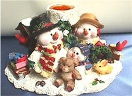Candle Holder Snowmen  - $12.04