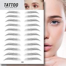 TMYIOYC Eyebrow Tattoo Stickers, 8 Styles Eyebrow Shapes Imitation Waterproof Na image 6