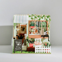 Miniature Cottage Flower Cat Green House Papercraft 3d model building di... - $39.60