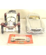 Burago model cars Diecast Lot of 2 Mercedes - 1954 300 SL + 1931 SSKL Ca... - $4.94