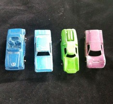 Tootsietoy Vintage Metal Cars Lot Of Four Rotating Wheels - $7.91