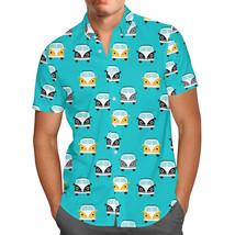 Summer Camper Van Retro Mens Button Down Short Sleeve Shirt - $44.99+